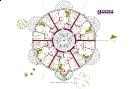 Tervezett kör alakú ház alaprajza